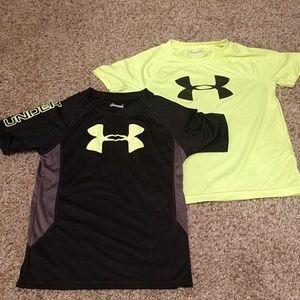 2 UA T-shirts size 7